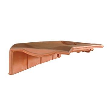Accessoire terre cuite d'EDILIANS : Tuile de rive à rabat gauche à recouvrement H 10
