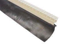 Solin arrêt d'enduit + bavette aluminium plissé