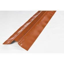 SHARK + bavette plomb plissé laqué rouge vieilli 90 mm